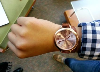 Oversize wristwatch college accessory trend