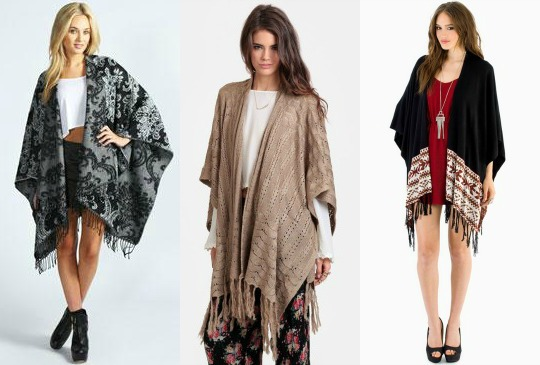 Oversized shawl winter 2013 trend