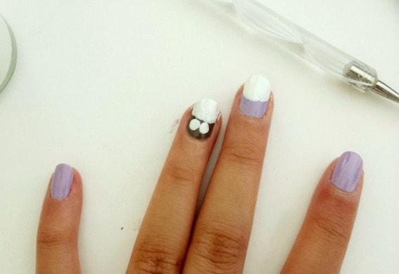 Owl nail art step 3
