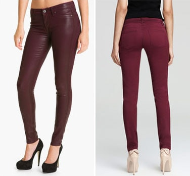 Oxblood colored jeans for fall