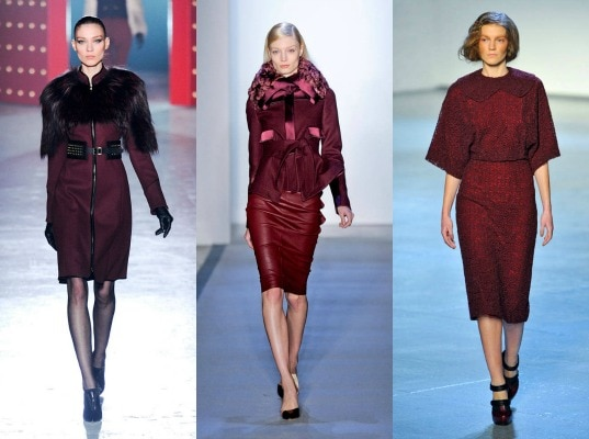 Oxblood on the fall 2012 runway