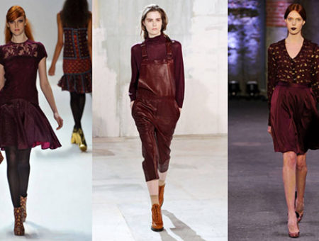 Oxblood trend on the runway for fall 2012
