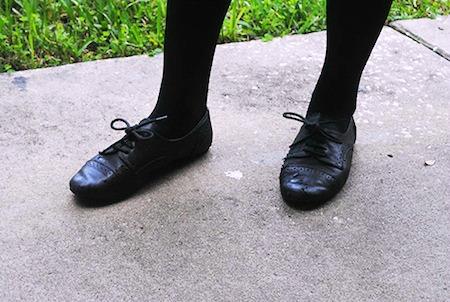 Oxford flats and tights at the university of florida