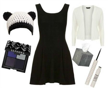 Panda halloween costume - black dress Halloween costume ideas
