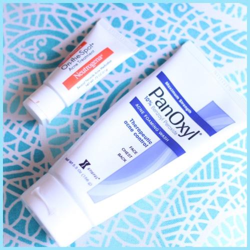 PanOxyl-Cleanser-and-Neutrogena-Spot-Treatment