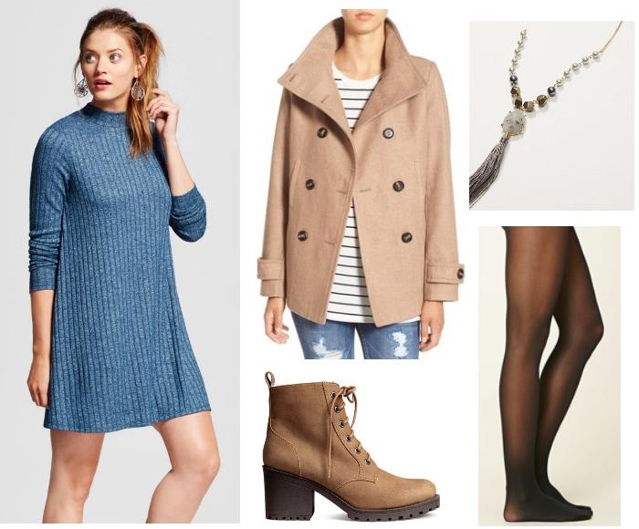 pantone Niagara and hazelnut outfit