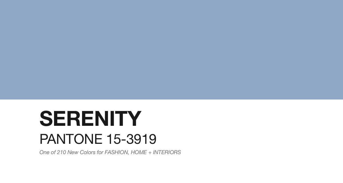 Pantone Serenity