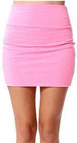 Papaya Simple Pink Mini Skirt