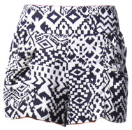 Papaya black and white graphic print shorts
