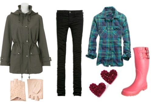 How to wear a parka and look fashionable: outfit 1