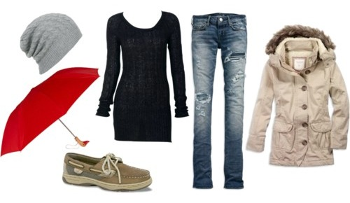 How to wear a parka and look fashionable: outfit 2