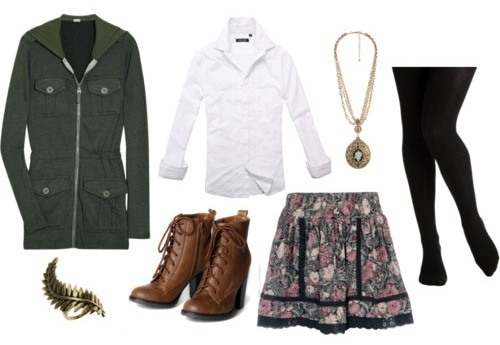 How to wear a parka and look fashionable: outfit 3
