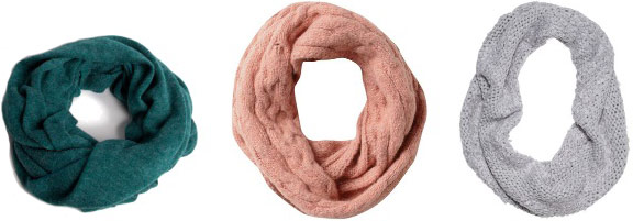 Party host gift ideas: infinity scarves