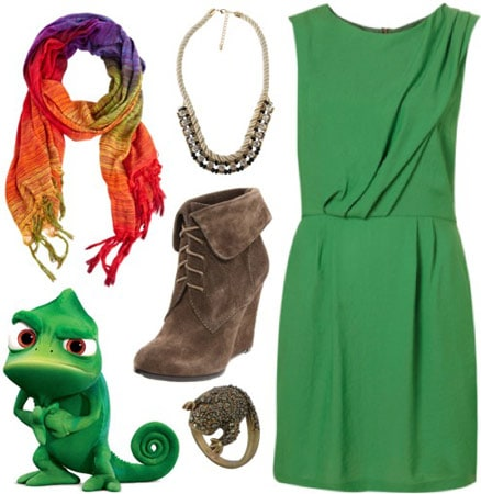 Outfit inspired by Pascal from Disney's Tangled