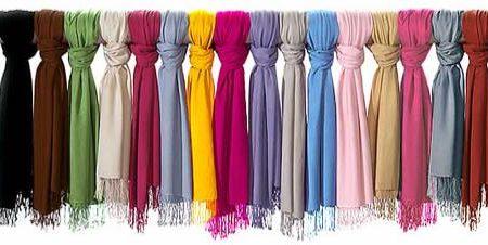 Multi-colored pashminas