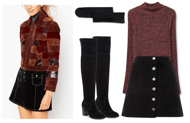 patchwork coat outfit