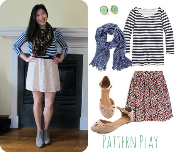 Pattern play - stripe shirt