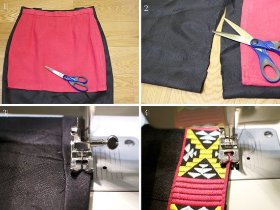 DIY Pattern Trim Skirt: Step by step instructions