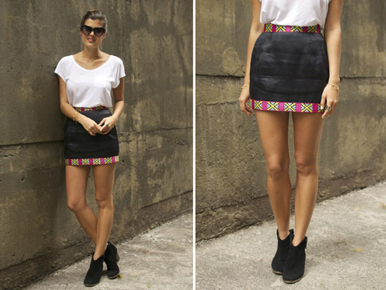 DIY Pattern Trim Skirt: Finished Product