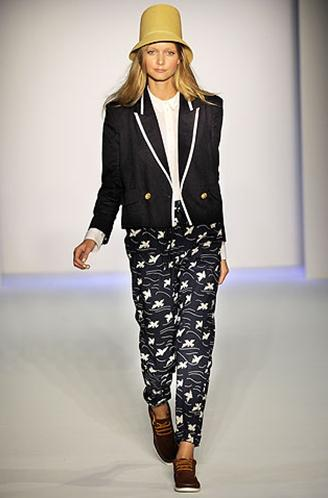 Patterned Karen Walker Pants