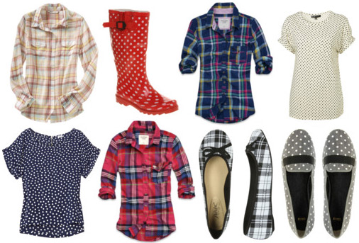 Fall 2011 Fashion Trend: Plaid and Polka Dot Pieces
