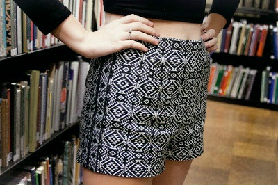 Patterned shorts risd street fashion