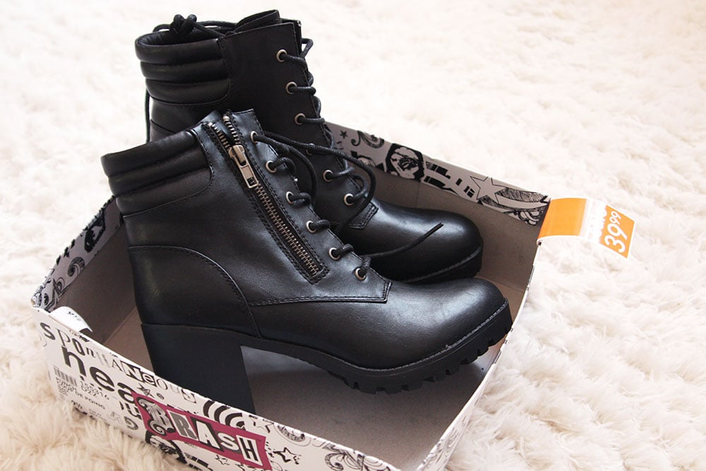Lug sole boots from Payless