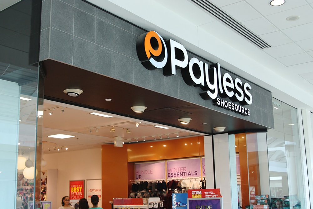 Payless store front