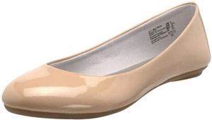 Tan patent flats from Payless