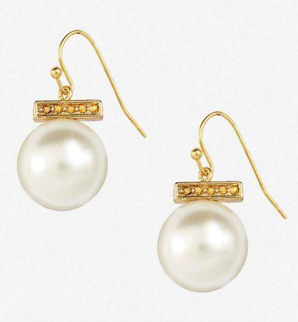 Express pearl drop earrings
