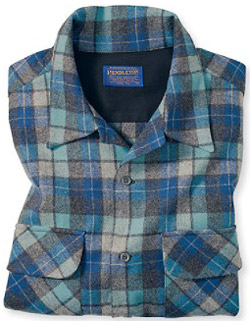 Pendelton blue and green plaid shirt