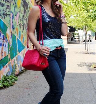 College student street style at Pennsylvania State University