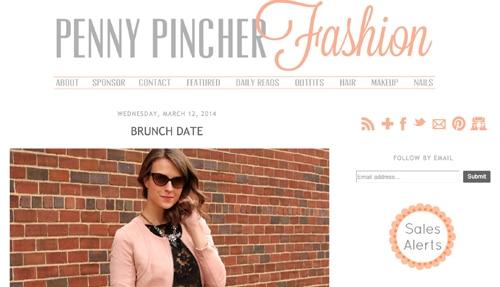 Pennypincherfashion homepage
