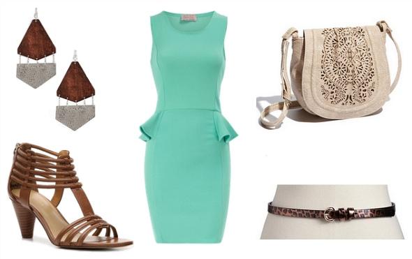 peplum dress outfit idea