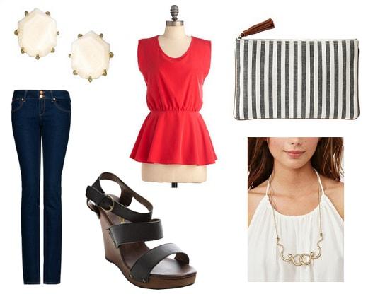 peplum top outfit idea