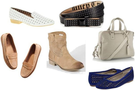 Cute and budget-friendly perforated leather accessories