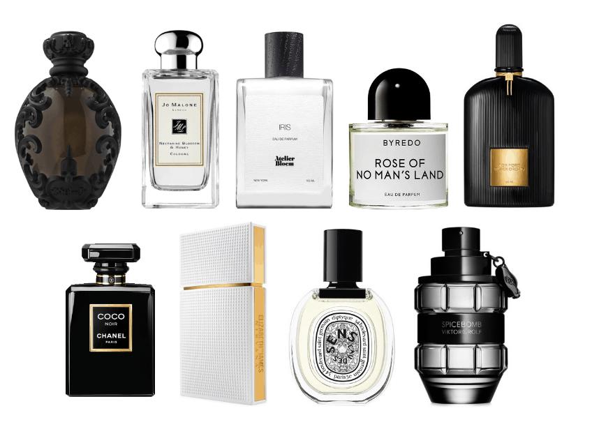 Favorite perfumes: Kat Von D, Jo Malone, Byredo, Iris, Tom Ford, Coco Chanel, Elizabeth and James Nirvana White, Sens, Viktor and Rolf Spice Bomb