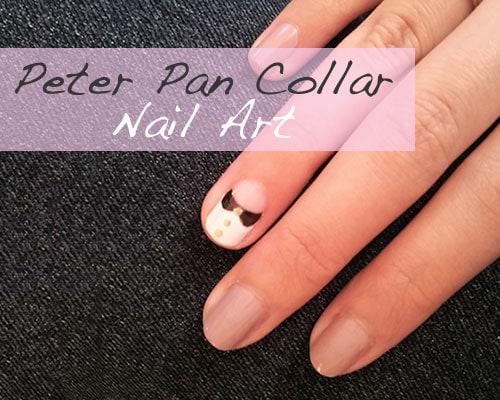 Peter pan collar nail art