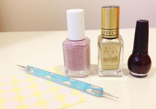 Peter Pan Collar nail art - Supplies and tools