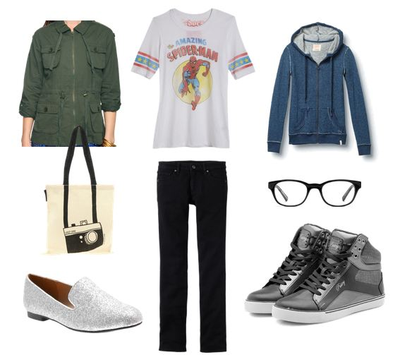 Fashion inspired by Peter Parker from The Amazing Spider-Man