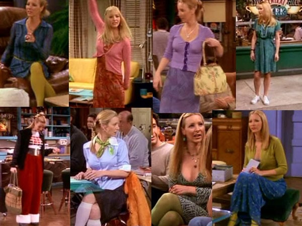 Fashion inspired by Phoebe Buffay from Friends