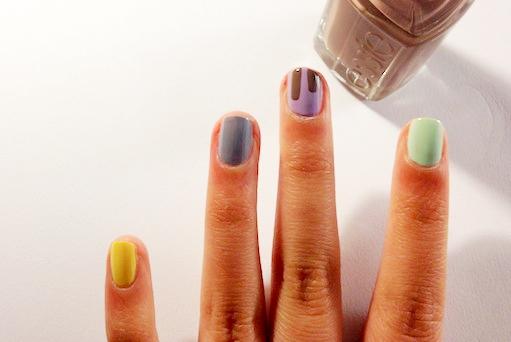 chocolate drip nail tutorial step 2