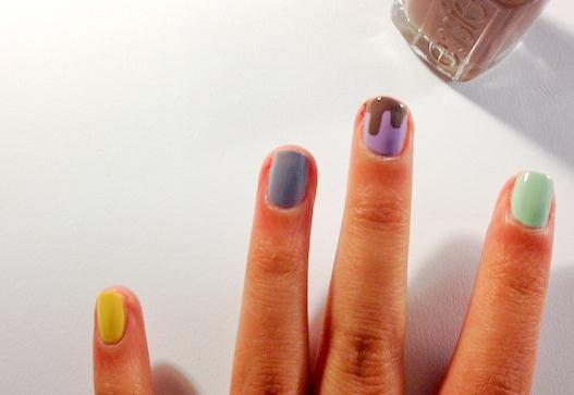 chocolate drip nail tutorial step 3 part 1