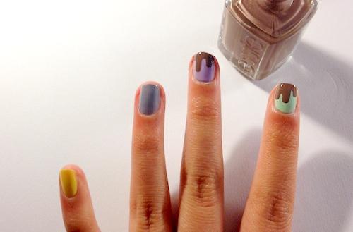 chocolate drip nail tutorial step 3 part 2