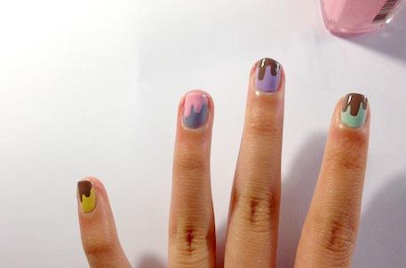 chocolate drip nail tutorial step 4