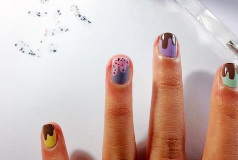 chocolate drip nail tutorial step 5