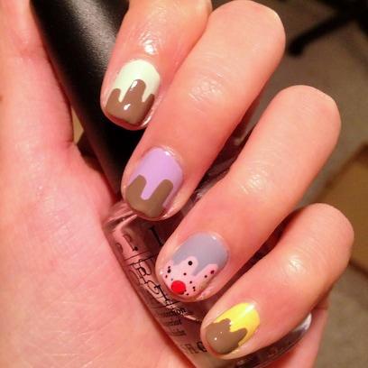 chocolate drip nail tutorial
