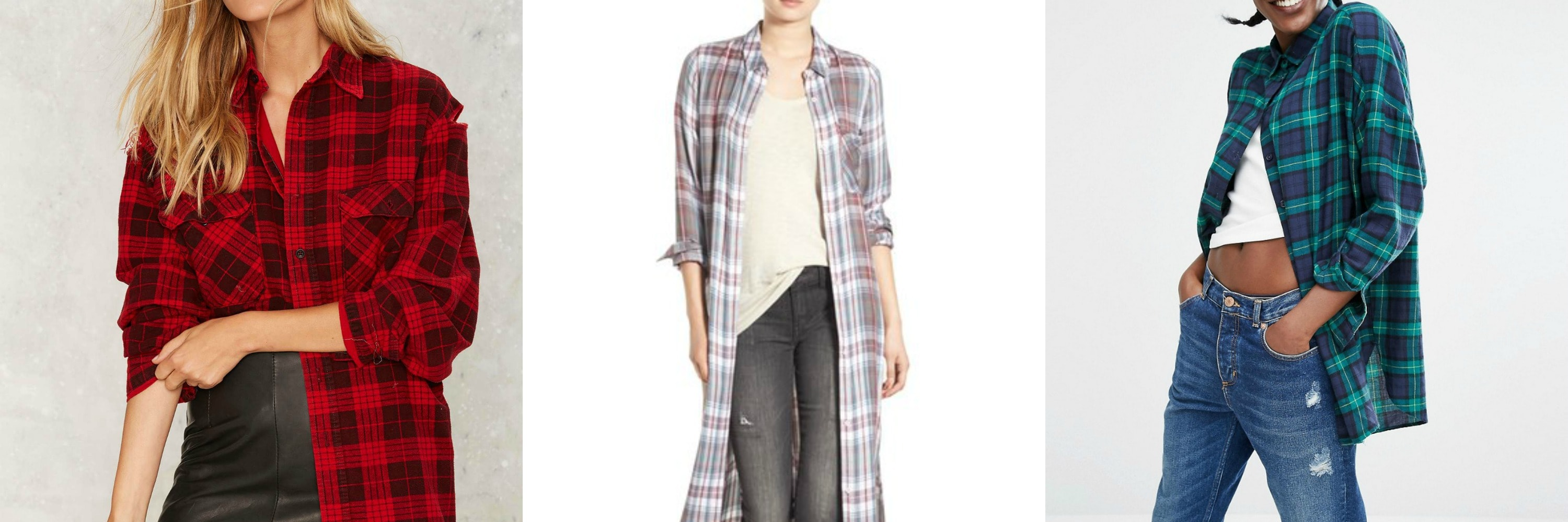 long plaid flannel collage