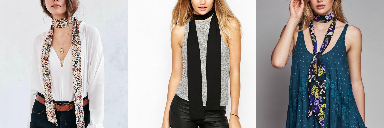 skinny scarves collage