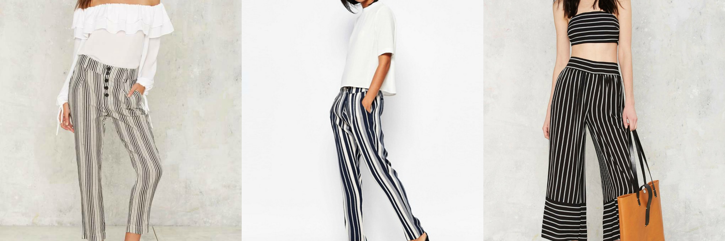 striped pants collage